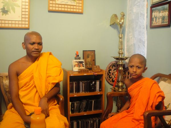 Ven. Amilasiri with his young ward Ven. Pathmasiri