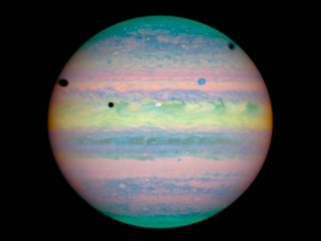 Jupiter and Satellites in Infrared