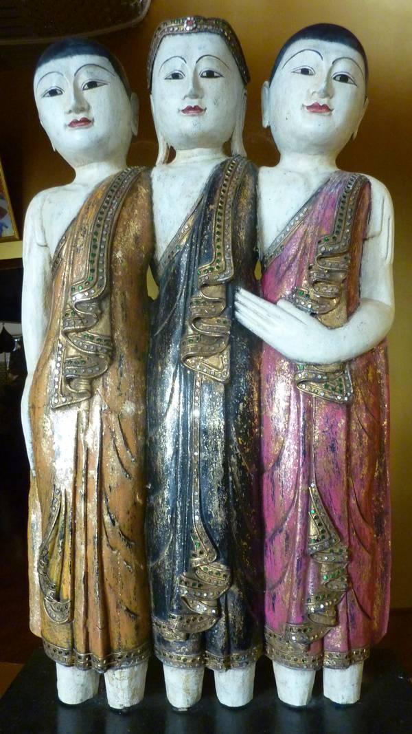 Buddha, Sariputta and Moggallana