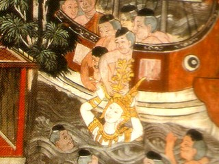 King Devanampiyatissa receives the Bodhi Tree