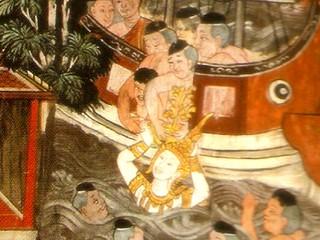 King Devanampiyatissa receives the Bodhi Tree