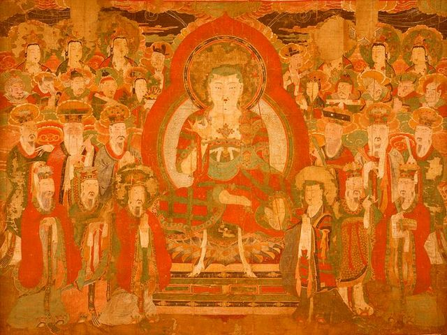 Ksitigarbha amongst the Beings in Hell