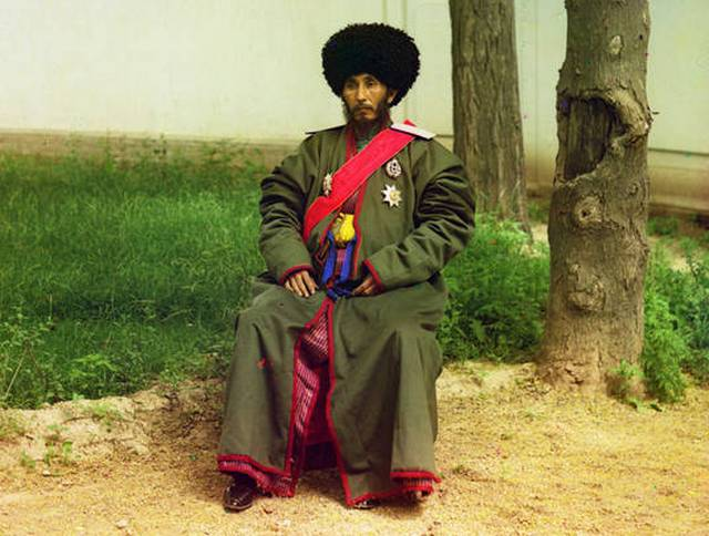 Isfandiyar Jurji Bahadur, Khan of the Russian protectorate of Khorezm (Uzbekistan), ca. 1910