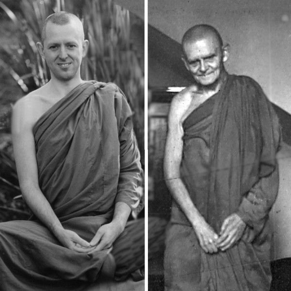 Photos of Ajahn Brahm and Ven. Nyanavimala from around 19900