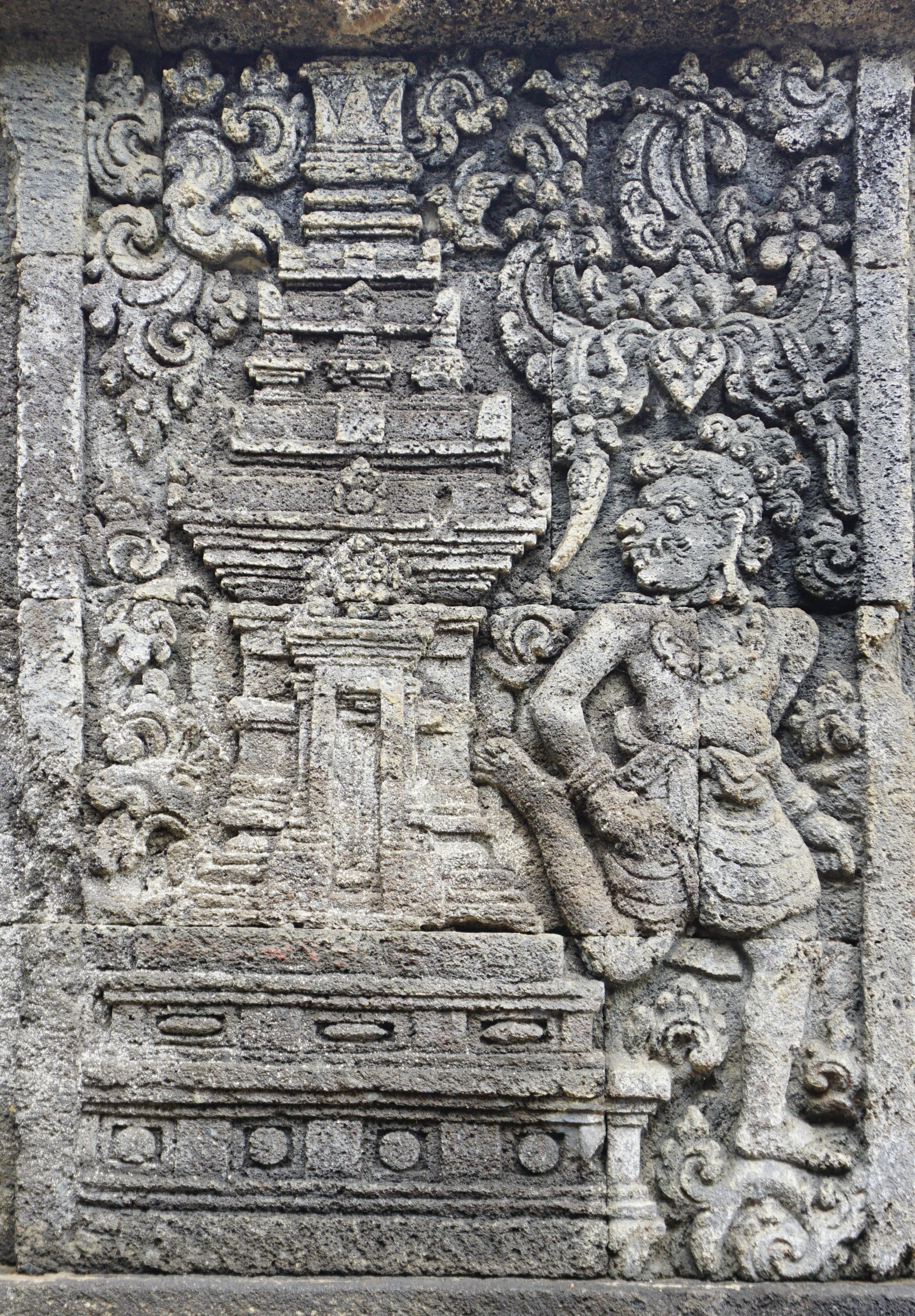 Relief showing sculpted model of Candi Penataran
